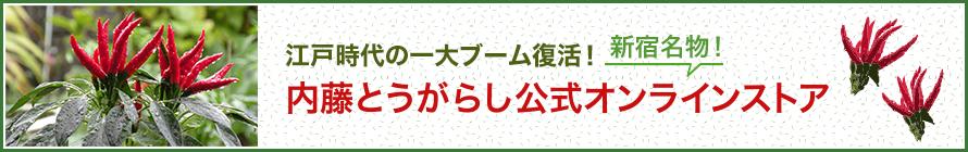 新宿内藤とうがらし公式オンラインストア